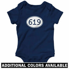 Area Code 619 One Piece - Baby Infant Creeper Romper NB-24M - San Diego Chula CA