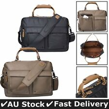 Canvas Men's Work Laptop Briefcase Attache Messenger Shoulder Tote Bag Satchel