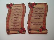 3D-U Pick-XM33 Christmas Sentiment Verse New 4 2016 Card Scrapbook Embellishment