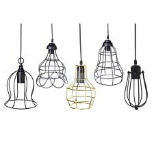 E27 Edison Vintage Metal Pendant Light Wire Guard Cage Ceiling Hanging Lampshade