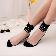 Lace Sock 1 Pairs Comfy Elastic Ankle Socks New Cotton Women Knit Mesh