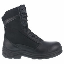 Knapp Mens Black Leather Nylon 8in Tactical Boots Shield Soft Toe