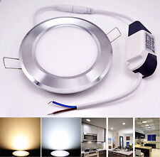 7W White/Warm 2835 SMD LED Recessed round Ceiling Panel Down Light Bulb Lamp