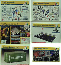 Italeri 1:24 wide Variation of truck Accessories New Plastic Model Kit 1/24