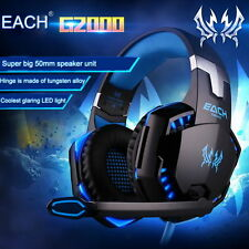 EACH G2000 Pro Game Gaming Headset 3.5mm LED Stereo PC Headphone w/ MicrophoneNT