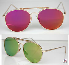 Mens Womens Aviator Glasses Fashion Sunglasses Retro Vintage Style Metal Shades