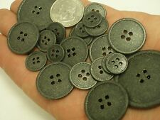 Lot of 10 Black Metal Buttons / Gold specks 1/2, 5/8,11/16, 7/8 1 inch,1 3/8 BM1