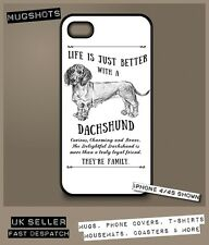 Dachshund dog phone case cover iPhone Samsung ~ Personalised FREE