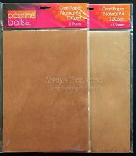 A4 Natural Craft Paper Pack ~ 2 Weight Options ~ Scrapbooking Card Making Craft
