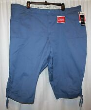 NWT LEE comfort fit SKIMMER just below the waist stretch waistband CHINA BLUE