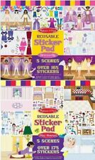 Melissa & Doug Dress-Up and Play House Reusable Sticker Pad Bundle. Huge Saving