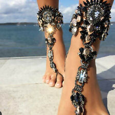 Summer Beach Anklet Barefoot Sandal Foot Chain Crystal Bracelets Fashion Jewelry