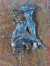 Vintage LOPEZ  Mexican Matador Bullfighter Bull Sterling Silver Jewelry Brooch