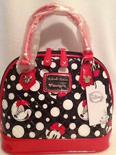 New Loungefly Disney Minnie Mouse Polka Dot Quilted Dome Handbag #WDTB0772