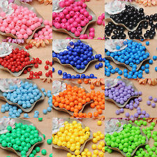 100pc 10mm Pure Color Acrylic Opaque Smooth Round Plastic Beads Jewelry Making