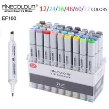 FineColour EF100 Sketch Marker Pen Alcohol Based Ink Graphic Soft Brush Dual Tip