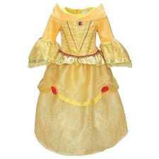 Kids Princess Belle Costume Beauty and the Beast Girls Yellow Party Fancy Dress