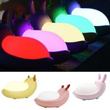 Cute Animal Shaped LED 7 Color Changing Night Light Lamp Room Decor Kids Gift
