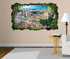 3D Wall Decal Skyline Rom Ruins City Italy Picture Wall Sticker 11H470