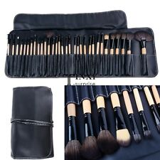 32 PCS Makeup Brush Set Cosmetic Pencil Lip Liner Make Up Kit Holder Bag TXSU