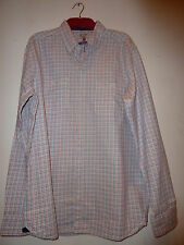 Ex Next Mens Long Sleeve Check Design Shirt. New. RRP £32. Size Small