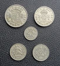 1947-1951 George VI 5 Coin Year Sets Half Crown to Sixpence