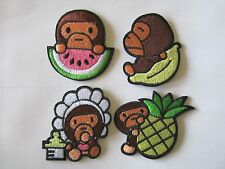 Bathing Ape Baby Milo Monkey Watermelon Pineapple Baby Iron On Patch
