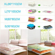 Vacuum Seal Storage Bags Space Saver Travel Clothes Compressed Organizer Vac Bag