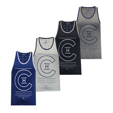 New Mens Crosshatch Designer Gym/Tank Top Sleeveless Casual Summer Vest