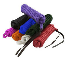 14' Poly Horse Training Lead Cowboy Lead Rope Yacht Style Pro Braid Colors