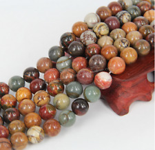 Natural Gemstone Picasso Jasper Stone Jewelry Making Loose Beads Strand 15""