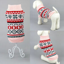 Pet Sweater Dog Cat Puppy Knit Jacket Soft Clothes Apparel For Small Medium Dog