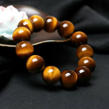 Men Natural Tiger Eye Stone Round Beads Bracelet Bangle Jewelry Gift 8-20MM New
