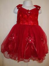 Baby Girls Pretty Red Bridesmaide / Formal / Flower Girl Party Dress - Various