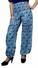 Cotton Casual Elephant Design Gypsy Boho Hippie Bohemian Yoga Pants