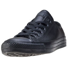 Converse All Star Leather Ox Mens Trainers Black Black Branded Footwear