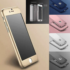 Hybrid 360° Hard Ultra thin Case+Tempered Glass Cover For Apple iPhone 6/6s,7