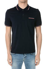 PRADA New Man Cotton stretch BLUE  Tee Polo Made in Italy NWT
