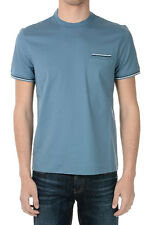 PRADA New Man Cotton stretch BLUE  Tee T-SHIRT Made in Italy NWT