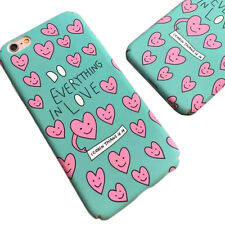 1Pcs For iphone Frosted New Hot Loving Hard Cover Shell Heart Cute Case Phone