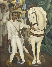"""DIEGO RIVERA Painting Poster or Canvas Print """"Agrarian Leader Zapata"""""""