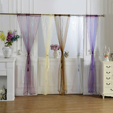New Muti Colors Tulle Voile Door Window Curtain Drape Panel Sheer Valances Scarf