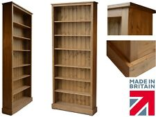 Solid Pine Boston Bookcase, 7ft x 3ft Adjustable Display Shelving Unit