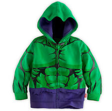 The Hulk Hoodie Boys Jacket Clothing Kids Superhero Costume Childrens Outfit NEW