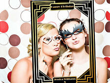 Classic  Birthday Photo booth selfie frame – Art Deco 1920s Style , Classic D...