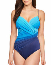 Miraclesuit Womens Dip Dye Centerfold Underwired Swimsuit