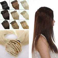 Professional Clip in Remy Human Hair Extensions 8 PCS 18 Clips Factory Price