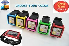 Aluminum Watch Band Wrist Band Bracelet Cover Case for Apple iPod Nano 6