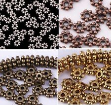 400pcs Wholesale 4mm Tibetan Antique Silver/Golden/Bronze Daisy Spacer Beads Hot