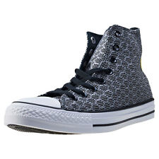 Converse Ct All Star Ii Hex Jaquard Hi Mens Trainers Black White New Shoes